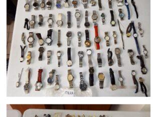 Χίος ,κατασχεμένα χρυσαφικά που βρέθηκαν στην κατοχή διαρρήκτη το έτος 2019. Κοσμήματα-Τιμαλφή- Χίος